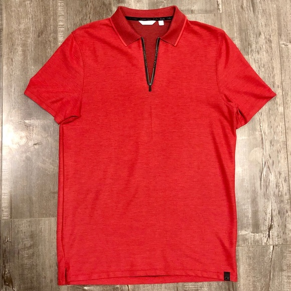 Calvin Klein Other - Calvin Klein Dress Polo Zipper Shirt - Small